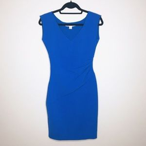 Diane Von Furstenberg Dresses - Diane Von Furstenberg | Blue Ruched Bodycon Dress